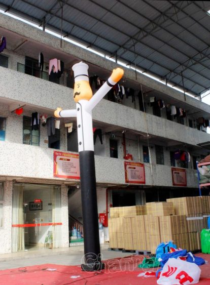 high quality chef sky dancer inflatable tube man