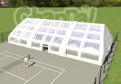 large inflatable tennis tent enclosure