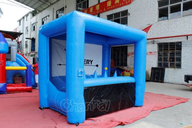 inflatable archery range with floating balls