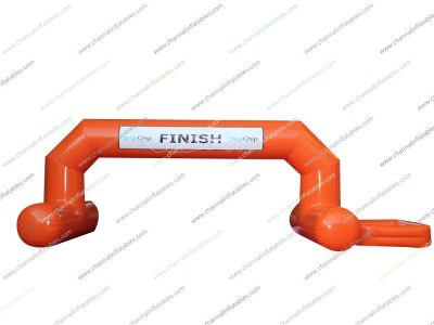 orange inflatable finish line arch