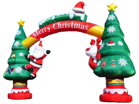 Christmas tree inflatable arch