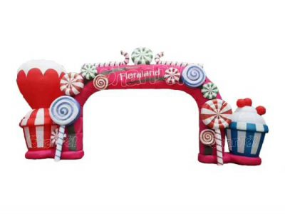 candy inflatable arch