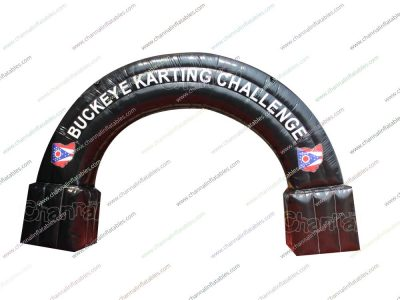 kart racing inflatable arch