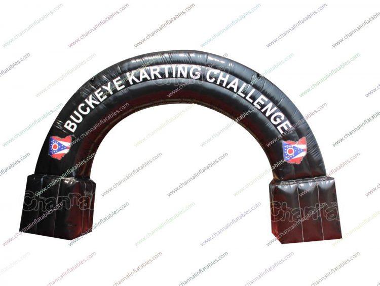 kart racing inflatable arch