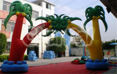 coconut tree inflatable arch