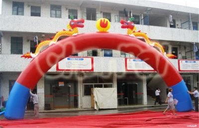 China dragon inflatable arch