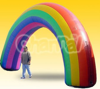 giant inflatable rainbow arch