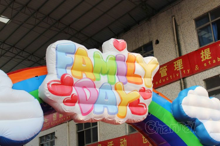 inflatable family day sign