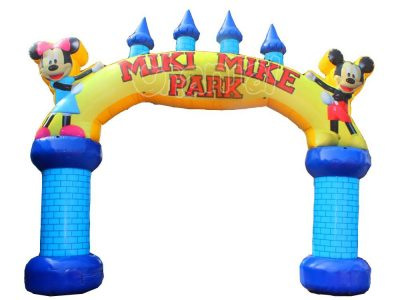 mickey mouse themed inflatable entrance arch