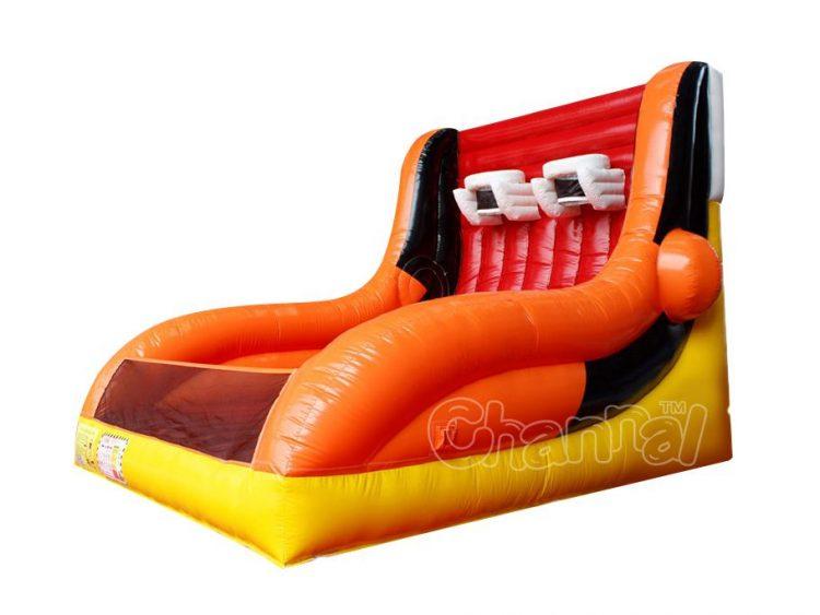 orange 2 hoops inflatable basketball game