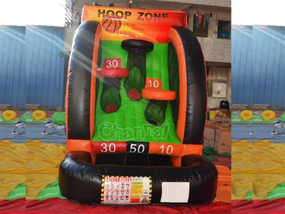 inflatable basketball hoop zone game