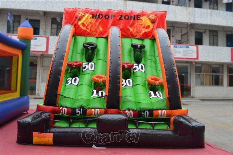 inflatable shoot basketball game