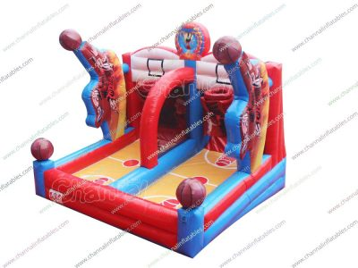inflatable basketball jump shot game