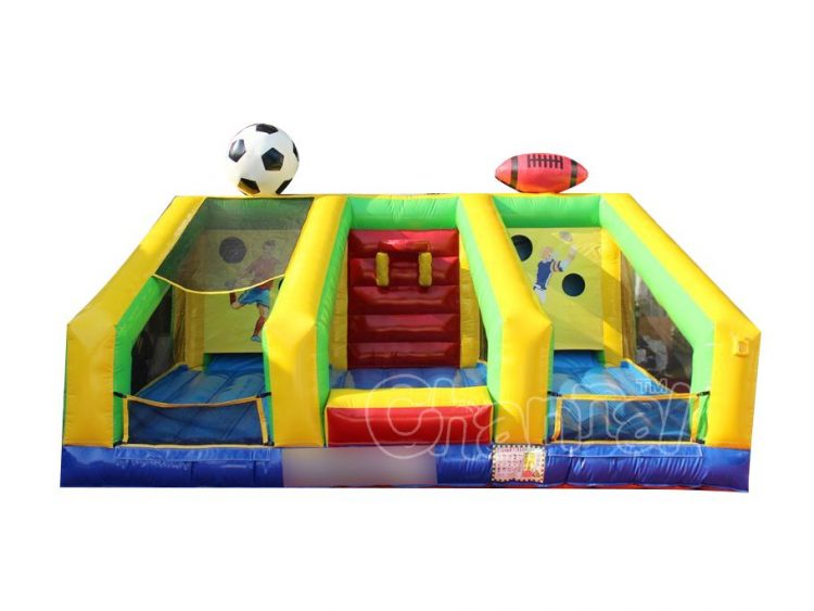 basketball soccer football 3-in-1 inflatable