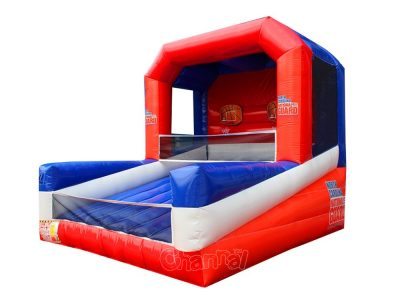 military double shot inflatable basketball game