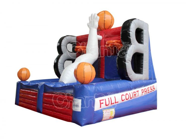 full court press inflatable basketball game