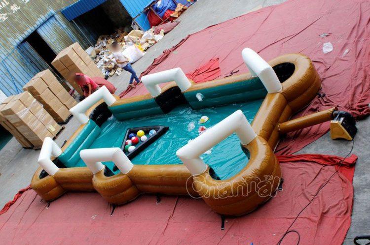 inflatable snookball with soccer billiard ballls