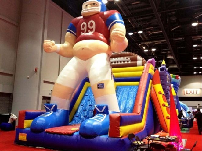 Channal football player inflatables