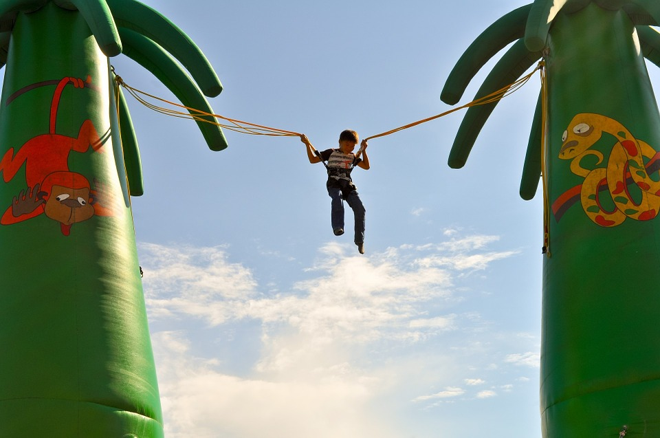 bungee jump inflatable for kid