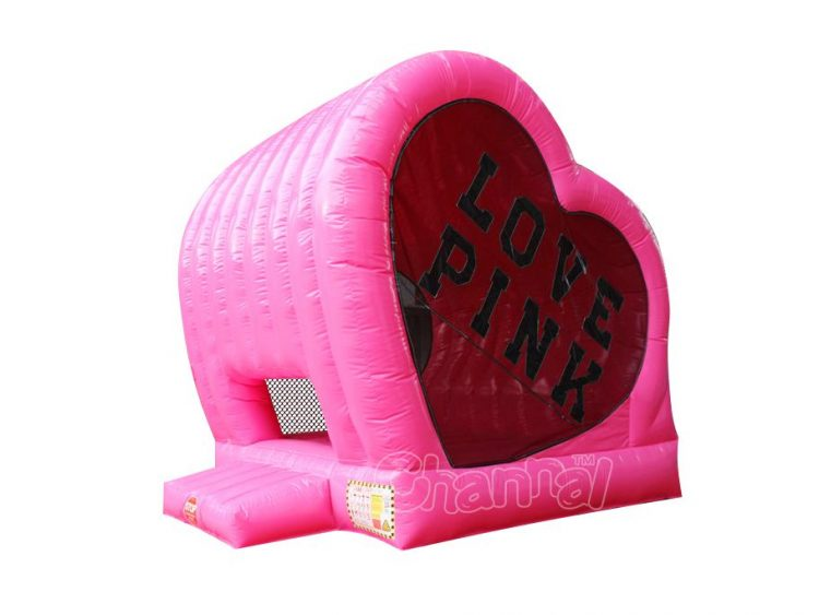 pink heart bounce house for sale