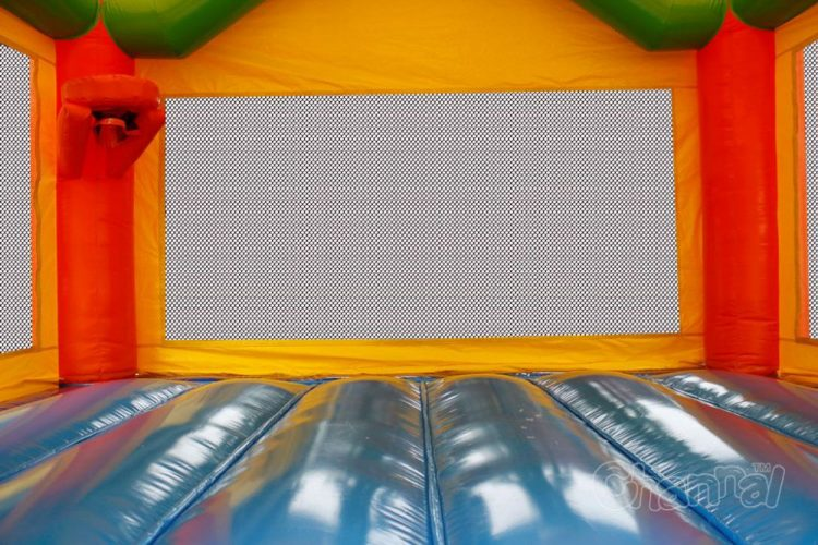 bouncy mat and basketball hoop of minion jumper