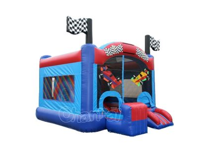 cheap car racing bounce house for sale