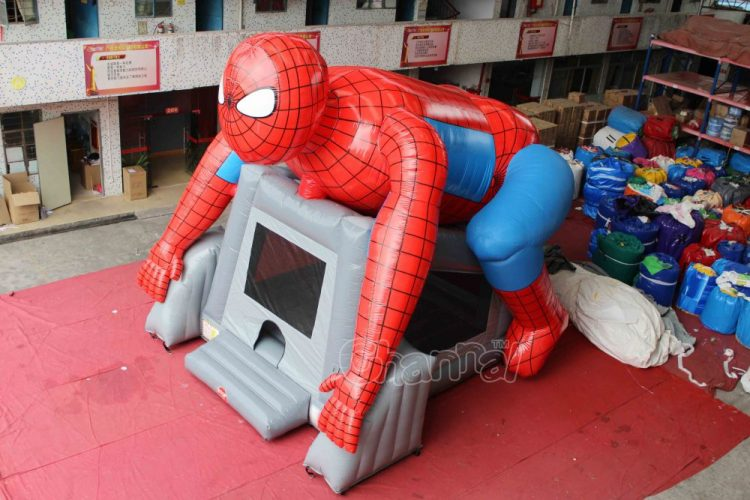 huge inflatable spiderman jumping castle