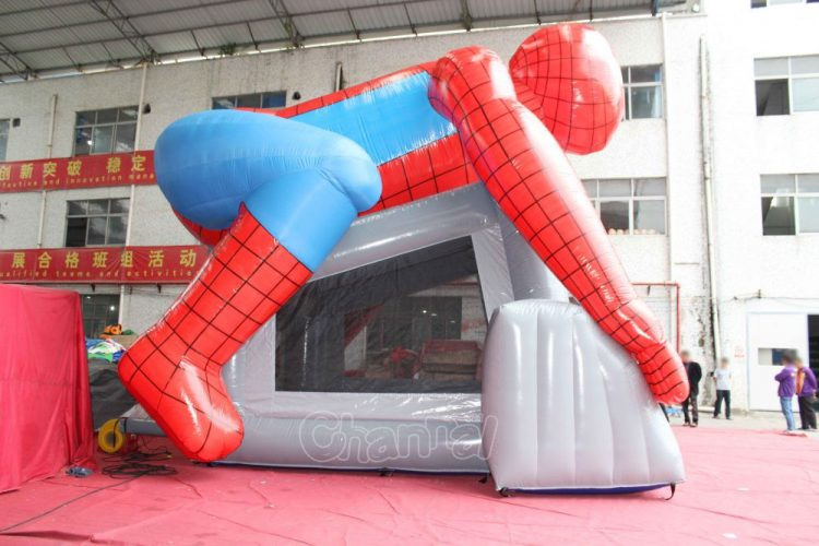 large spiderman inflatable jumping house for kids