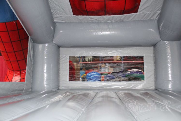 inside of spiderman bounce house