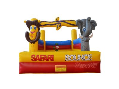 safari theme inflatable bouncer