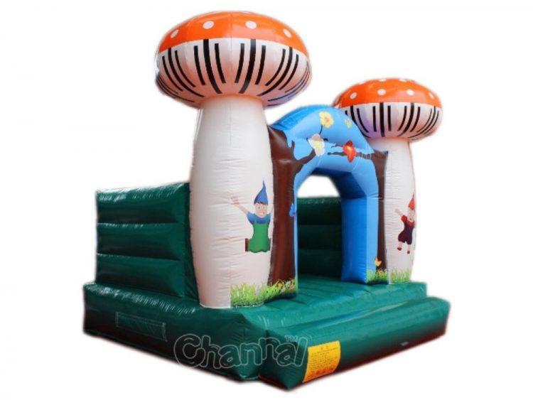 mushroom theme inflatable jumper