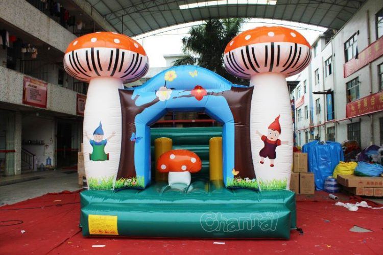 inflatable mushroom bouncy house for kids