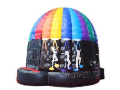 inflatable disco dome bouncy castle with lights for dance for sale