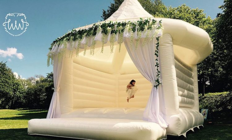 wedding bounce house for photos and fun