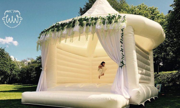 wedding bounce house for photos and fun