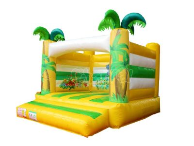 palm tree elephant inflatable bouncer