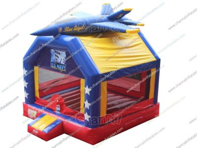 us army blue angels bounce house