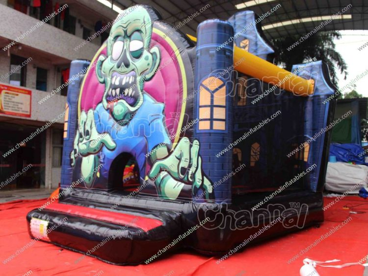 zombie halloween inflatable bounce house