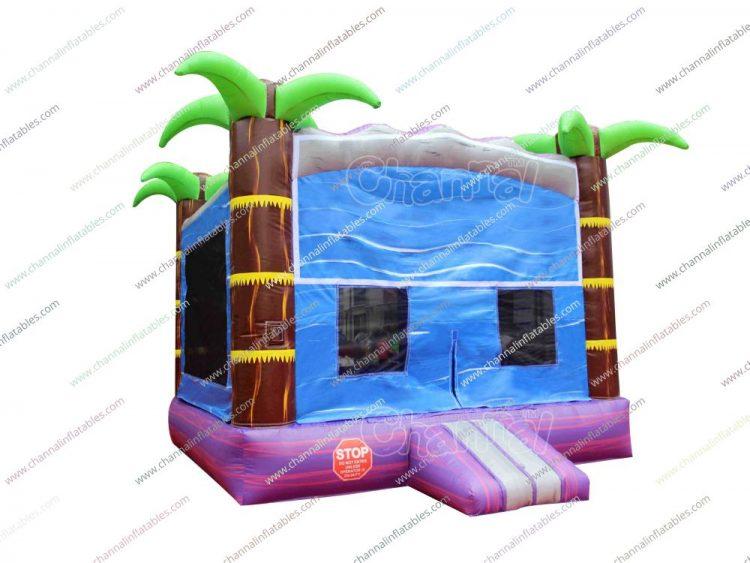palm tree bounce house