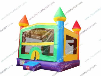 clolorful bounce house