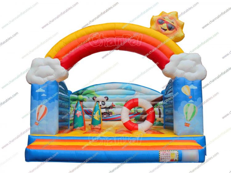panda on beach vacation inflatable jumper