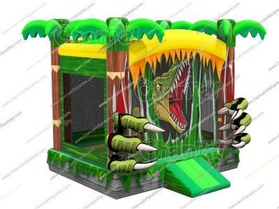 angry dinosaur bounce house