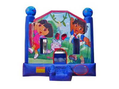 inflatable dora and diego bouncer