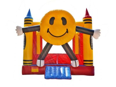 commercial inflatable crayon bounce house for sale for kids