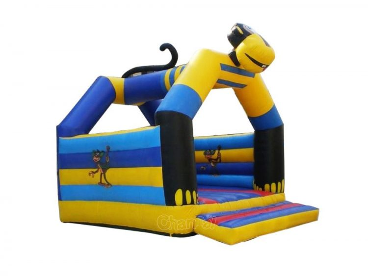blue yellow monkey inflatable bouncer