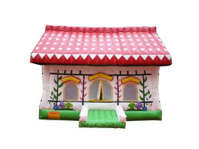 inflatable red roof house bouncer