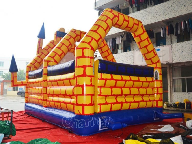 back side of Camelot bouncy castle