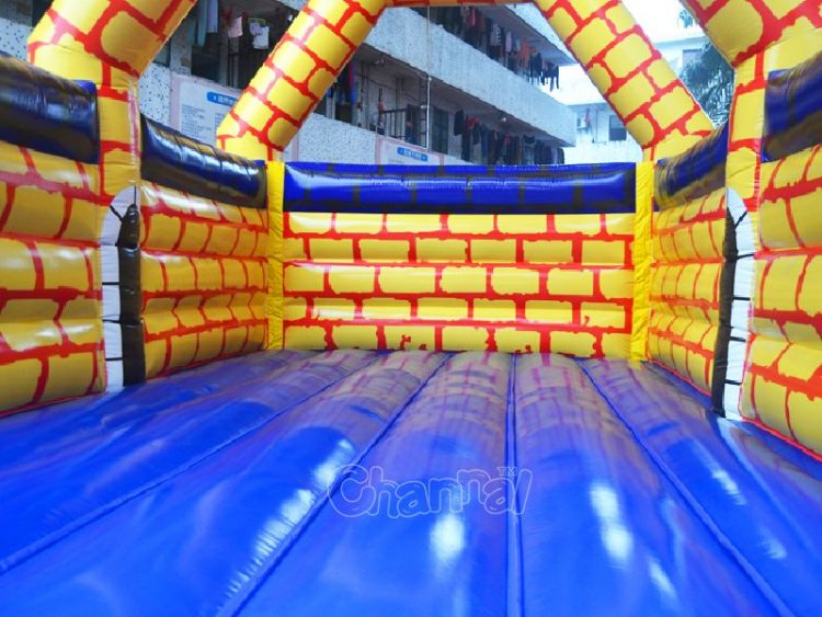 bounce floor of Camelot jump house
