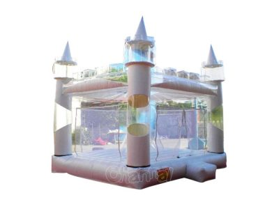 white bouncy castle for wedding for sale