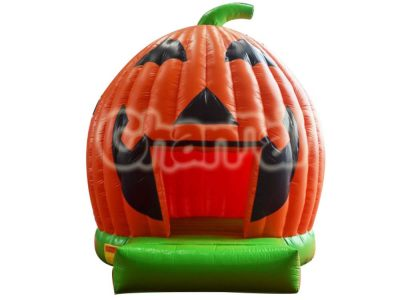 inflatable Halloween pumpkin bounce house